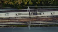 Aerial view of Elevated train and Railroad Track video