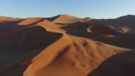4K aerial view of endless sand dunes of the Namib desert inside the Namib-Naukluft National Park video