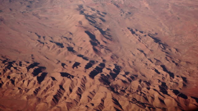 Aerial view of epic mountain scenery of Morocco video