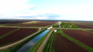 Aerial view of farm lands video