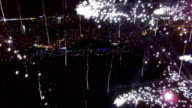 Aerial View of Fireworks video