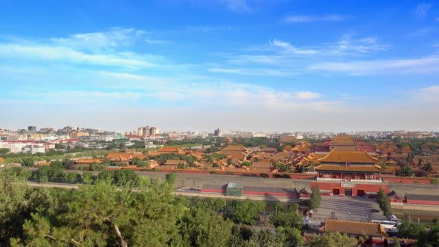 Aerial view of Forbidden City in Beijing video