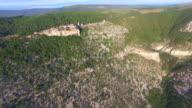 Aerial view of fort city Lubenice, Croatia video