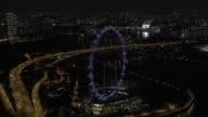 Aerial view of freeway traffic video