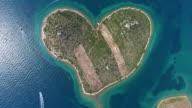 Aerial view of Galesnjak Island, Croatia video