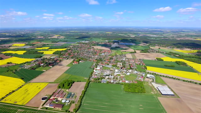 Aerial View of Germany Patchwork Landscape , Lower Saxony video