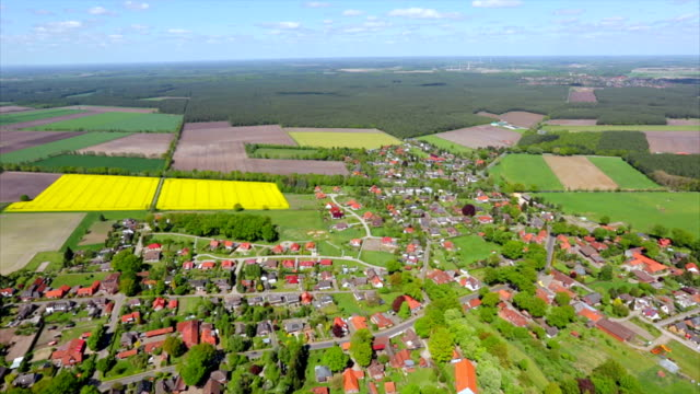 Aerial View of germany town Celle , Lower Saxony video