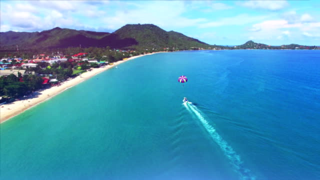 Aerial view of glider in Thailand video