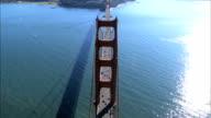 Aerial view of Golden Gate Bridge video