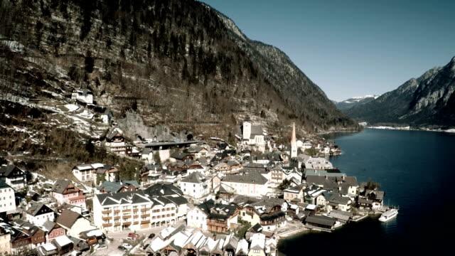 Aerial View of Hallstatt village video