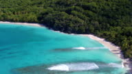 Aerial view of Hawksnest Beach, St.John, US Virgin Islands video