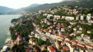 Aerial view of Herceg-Novi city video