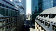 aerial view of high rise business buildings video