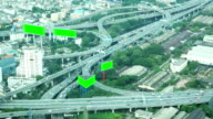 Aerial view of Highway in Bangkok Thailand video