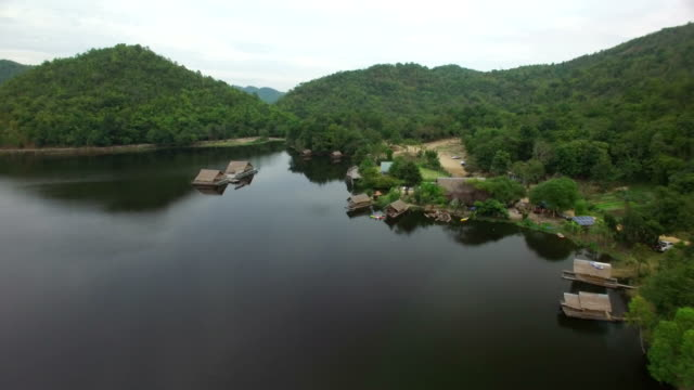 Aerial view of hub khao wong in Suphanburi, Thailand video