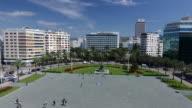 Aerial View of Izmir Republic Square and Monument Turkey video