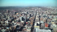 Aerial view of Johannesburg, South Africa video