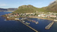 Aerial view of Kalk Bay harbour,Cape Town,South Africa video