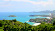 Aerial View of Kata & Karon Beach, Phuket, Thailand. video