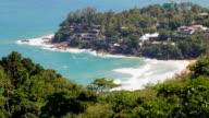Aerial View of Kata Noi Beach, Phuket, Thailand. video