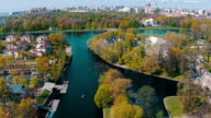 Aerial View of Kayak Floating in Canal video