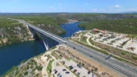 Aerial view of Krka bridge highway, Croatia video