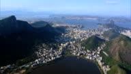 Aerial view of Lagoa, Beaches and Rio de Janeiro, Brazil video