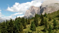 Aerial view of Langkofel and Seiser Alm - Italy video