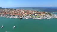 Aerial view of Lekfada capital city video