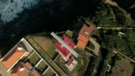 Aerial View of Lighthouse at Cape Roca, Portugal video