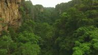 Aerial view of Limestone mountain at Noen Maprang in Thailand video