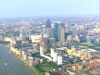 Aerial view of London. NTSC, PAL video