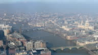Aerial view of London timelapse video