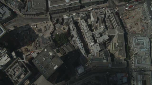 Aerial view of London video