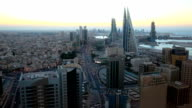 Aerial view of Manama City, Bahrain video