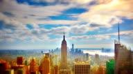 Vue aérienne de Manhattan, à New York. - Vidéo