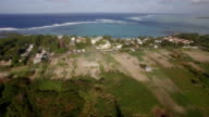 Aerial view of Mauritius Island and Indian Ocean video