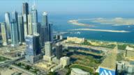 Aerial view of Media City Dubai video