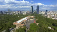Aerial View of Mexico City from Chapultepec Park video