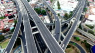 Aerial view of Mexico City highways video