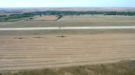 Aerial view of military exercises video