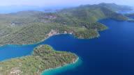 Aerial view of Mljet Island, Croatia video