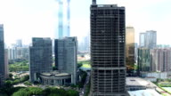 Aerial view of modern buildings and urban cityscape of Guangzhou,real time. video
