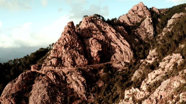 Aerial View of mountains of Calanche of Piana video