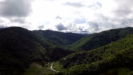 Aerial View of Mountains with Green Forest, Tak, Thailand. video