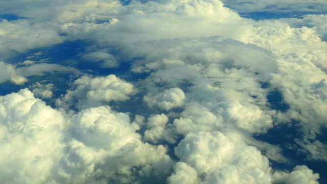 Aerial View of Moving Clouds Below video