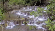 Aerial View of Multi Step Waterfall video