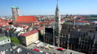 Aerial view of Munich video