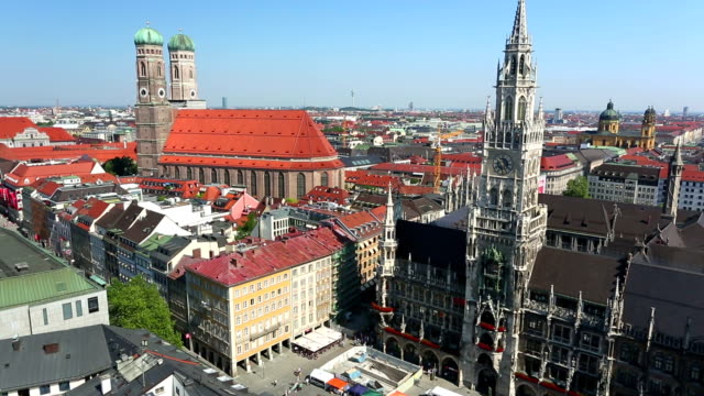 Aerial view of Munich video