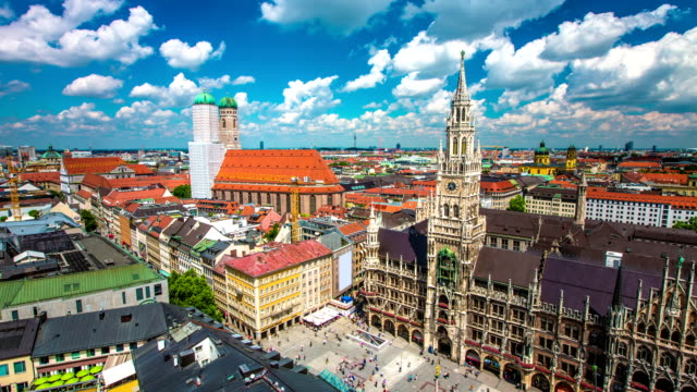 TIME LAPSE: Aerial view of Munich video